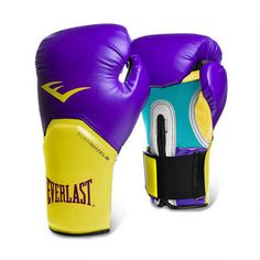 Everlast 12-oz Pro Style Boxing Gloves Purple/Gold $34.99