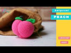 #007 | DIY Fruit Amigurumi | How to crochet a PEACH amigurumi | Free Pattern | AmiguWorld - YouTube Cute Crochet, Crochet Hooks, Amigurumi Tutorial, New Fruit, Yarn Colors, Single Crochet, Green Colors, Free Pattern, Crochet Patterns