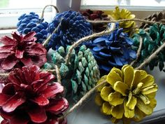 garland pine cones! i like making garland out of anything.