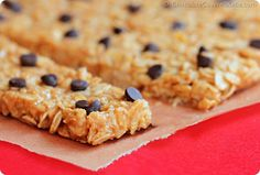 """The Minute"""" High Protein Granola Bars by Chocolate Covered Katie Healthy Protein Snacks, Protein Bar Recipes, Healthy Bars, Protein Foods, Snack Recipes, Diet Recipes, Healthy Food, High Protein Granola Bar Recipe, Buy Protein"""