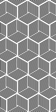 Seamless hexagonal line cube pattern