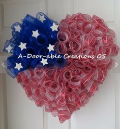 Forth of July Deco Mesh Wreath