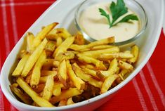 Baked Fries with Garlic Cheese Sauce Recipe � 5 Points   - LaaLoosh
