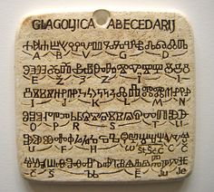 The Glagolitic alphabet was invented during the 9th century by the missionaries St Cyril (827-869 AD) and St Methodius (826-885 AD) in order to translate the Bible and other religious works into the language of the Great Moravia region. They probably modelled Glagolitic on a cursive form of the Greek alphabet, and based their translations on a Slavic dialect of the Thessalonika area, which formed the basis of the literary standard known as Old Church Slavonic.