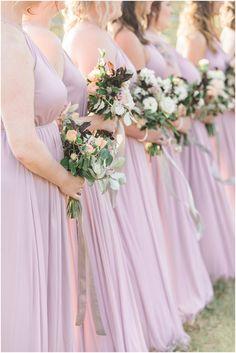 Lavender Bridesmaid Dresses at Vineyard Wedding at Montaluce Winery // Lindsey La Rue -- Lavender Bridesmaid Dresses, Wedding Dresses, Pink Bridesmaids, Summer Wedding Invitations, Spring Wedding Inspiration, Vineyard Wedding, Wedding Styles, Wedding Day, Wedding Decor