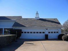 Three car garage. Southfork Ranch, South Fork, Car Garage, Dallas, House Design, Mansions, Cool Stuff, Outdoor Decor, Ideas