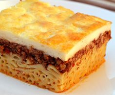 pastitsio - made this with a classic italian bolognese sauce instead of the greek version - VERY good!