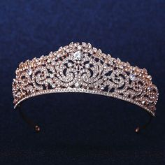 Rose Gold Crown Swarovski Bridal Tiara Rhinestone Tiara Swarovski Wedding Crown Crystal Wedding Crown l Wedding Tiara Wedding Accessories ==DETAILS== ★ Color:Gold, white ★ Size inch ★ Material: Crystals, Rhinestone ★Back to my shop-http Bridal Crown, Bridal Tiara, Bridal Hairpiece, Hair Jewelry, Bridal Jewelry, Fashion Jewelry, Gold Tiara, Gold Crown, Gold Headpiece