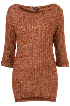 Topshop Knitted Open Stitch Sweater :: $52.00