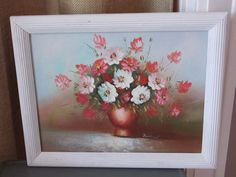 Vintage Chic Shabby Floral Painting by ChicAntiquesOxford on Etsy, $38.00