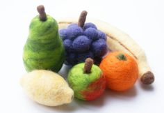 Handmade Needle Felted Fruit  Six Pieces of by VickysVintageGifts, £40.00