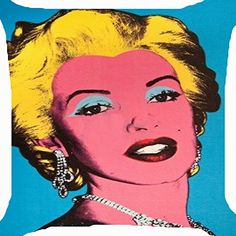 Cushion cover throw pillow case 18 inch retro vintage pop art Marilyn Monroe makeup pretty girl both sides image zipper Pop Art Marilyn, Hollywood Icons, Hollywood Star, Vintage Pop Art, Retro Vintage, Pop Art Girl, Art Pop, Marilyn Monroe Makeup, Chicken And Shrimp Recipes