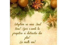 Felicitare de Anul Nou cu crengute de brad