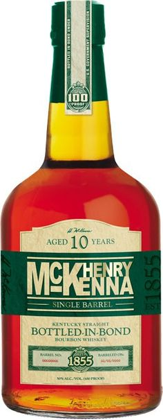 Aged for a minimum of ten years, this bourbon was called