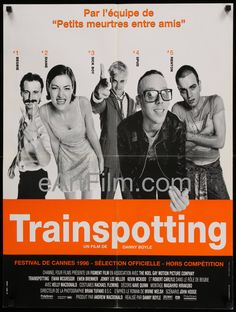 eartfilm.com/...  Trainspotting 1996 23.5x31.25 French Affiche Movie Poster