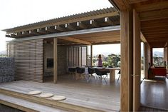 contemporary beach house design interior nz - Google Search