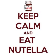 KEEP CALM AND EAT NUTELLA. Another original poster design created with the Keep Calm-o-matic. Buy this design or create your own original Keep Calm design now. Funny Phone Wallpaper, Wallpaper Backgrounds, Iphone Wallpapers, Keep Calm Quotes, Nutella Recipes, Love You, My Love, True Stories, Make Me Smile