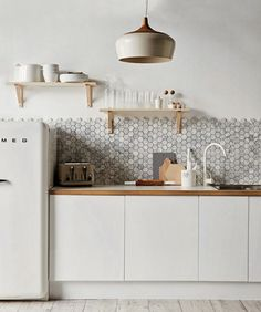 Cool Chic Style Attitude: Subway + Hexagon Marble Tile