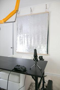 backdrop diy studio backdrops setup makeup fabric background filming lighting creative vlogging instagram tips decor beauty mrkate