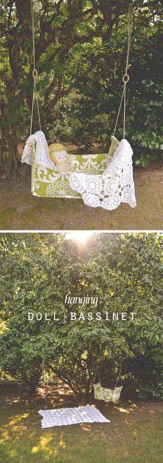 swoon studio: Make it: Hanging Doll Bassinet