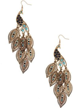 Peacock earrings WOW