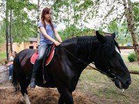 """Ксения на Мире. Обожаем эту лошадь да и девушку тоже. Конюшня ♞ КСК """"Триумф"""" ♞ Кинешма"""