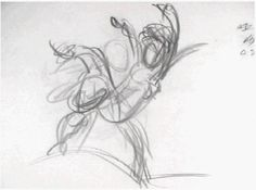 Tarzan rough Pencil-Test by Victor Ens. First rough Pencil-Test of Tarzan catching Jane