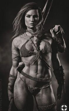 """f Barbarian Staff underdark ArtStation - Defiant Till the End, Melissa """"Mel"""" Wilemon-Moraitis Fantasy Warrior, Fantasy Girl, Chica Fantasy, Fantasy Art Women, Warrior Girl, Warrior Princess, Dark Fantasy Art, Fantasy Artwork, Fantasy Characters"""