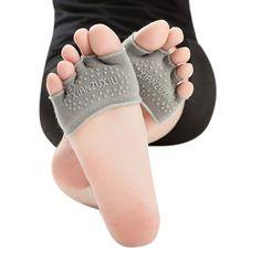 Premium Gifts Wholesale Sports Socks 1 Pairs Women Invisible Yoga Gym Non Slip Toe Socks Half Grip Heel Five Finger Socks
