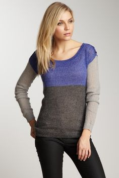 Splendid Colorblock Knit Sweater
