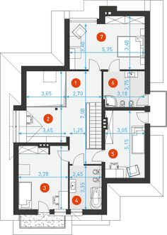 Własny 1 Shipping Containers, Townhouse, Floor Plans, Flooring, How To Plan, Space, Home Decor, House Beautiful, Projects