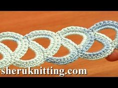 Easy to Crochet Tape Tutorial 8 Beginner Level. In this crochet video tutorial we show you how to crochet tape . You just need to know how to work a chain stitches and single crochet. This crochet tape can be used as a lace trim, edging, decorative Crochet Belt, Crochet Lace Edging, Freeform Crochet, Thread Crochet, Irish Crochet, Single Crochet, Crochet Stitches, Crochet Patterns, Crochet Roses