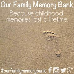 Our family memory bank - making the most of the journey