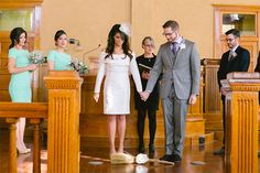 """This Texas Courthouse Wedding Is Simply Adorable #refinery29  http://www.refinery29.com/courthouse-wedding-ideas#slide14  """"Slaves in this country were not permitted to marry, so they jumped a broom as a way of ceremonially uniting,"""" Rachel says. """"Today it represents great joy and at the same time serves as a reminder of the past and the pain of slavery."""""""