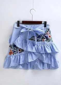 Cheap short pencil skirt, Buy Quality mini skirt directly from China pencil skirt Suppliers: 2017 New Women Vintage Ruffles Decoration Embroidery Striped Skirt Sexy Slim Short Pencil Skirts Bow Tied Mini Skirt Stripe Skirt, Ruffle Skirt, Frilly Skirt, Elegant Woman, Short Pencil Skirt, Pencil Skirts, Pencil Dresses, Sexy Rock, Embroidery Fashion