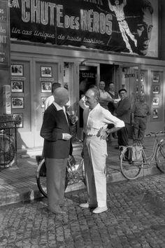 © Henri Cartier-Bresson/Magnum Photos // Vaucluse. Avignon. 1959. Right: French actor, scenographer and founder of the Avignon Theater Festival, Jean VILAR.