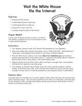Visit the White House via the Internet Printable (4th - 8th Grade) - TeacherVision.com