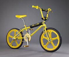 Yellow BMX