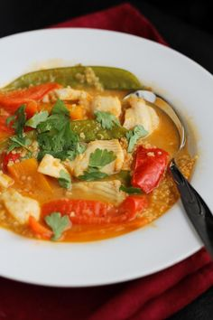 Thai Coconut Red Fish Curry with Quinoa