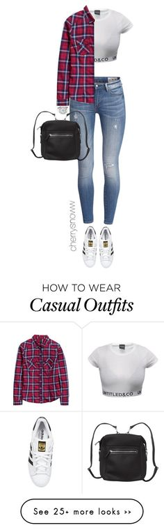 """Sporty casual outfit for fall"" by cherrysnoww on Polyvore featuring H&M, adidas Originals, OMEGA and Monki"