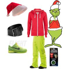 SEUSSICAL GRINCH by alycurry on Polyvore featuring Maison Margiela, DC Shoes, NIKE, women's clothing, women's fashion, women, female, woman, misses and juniors