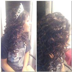 Quincenera hairstyle by me (: