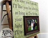 Personalized Father of the Bride Picture Frame by thesugaredplums