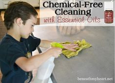 Household cleaning with Young Living Essential oils #thieves