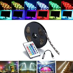 Lights & Lighting Table Lamps Dedicated Adhesive Strip 300 Smd Led Rgb Remote Pool 5mt Discounts Price