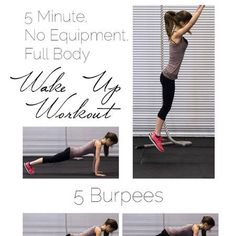 A quick and easy, full body workout that only takes 5 minutes and you can do anywhere!