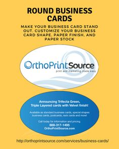 Breeze into fall with a custom business card httporthoprintsource we just got new business cards with a smooth velvet finish we combined this new finish with an oval shaped business card for a new card that really stands colourmoves