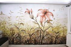 Crin-pictura murala 3D-coloranda Sgraffito, Mural Art, Art Projects, Graphic Design, 3d, Painting, Horsehair, Art Designs, Wall Art