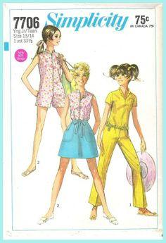 Simplicity 7706  1968  Size Jr/Teen 9/10