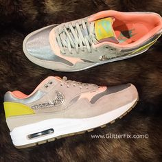 Image of Custom Nike Air Max 1 - Metallic/Silver